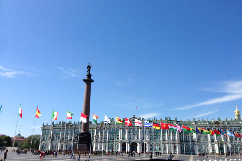 Hermitage and Palace Square in Saint Petersburg