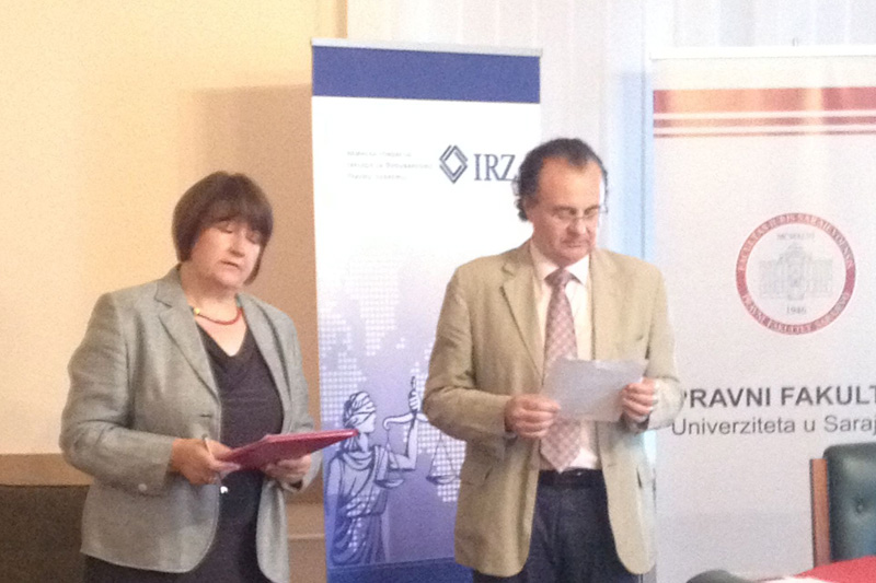 Prof. Dr. Meliha Povlakic und Prof. Dr. Boro Petrovic