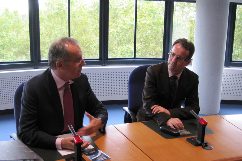 Ledi Bianku, judge for Albania at the ECtHR, and Fejzullah Hasani, President of the Supreme Court of Kosovo (right)