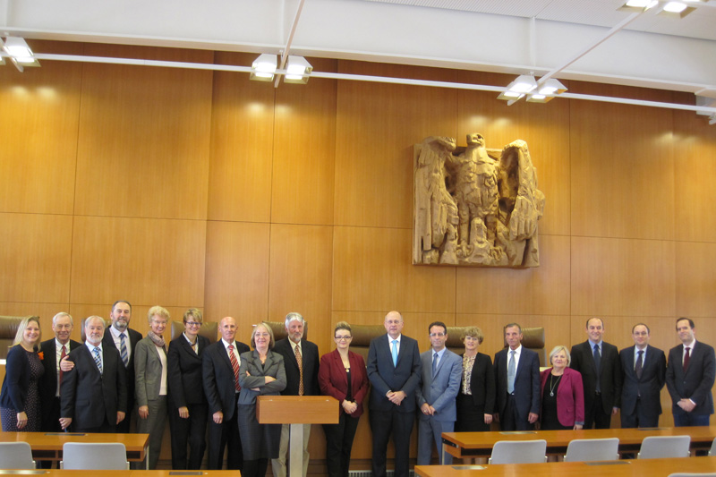 Group photo of the visit to the German Federal Constitutional Court
