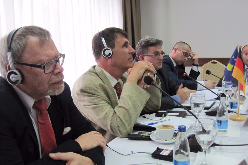 Helmut Leithäuser, Regional Court of Wuppertal; Dr. Matthias Hartwig, Max Planck Institute; Hasan Petreni, Kosovo Anti-Corruption Agency; Shqipdon Fazliu, Kosovo Public Prosecutor