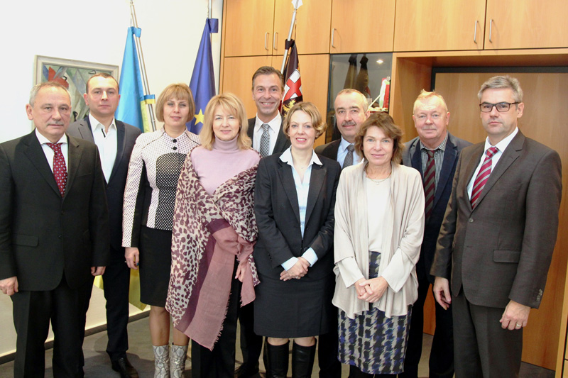 The Ukrainian delegation with their German hosts in Koblenz