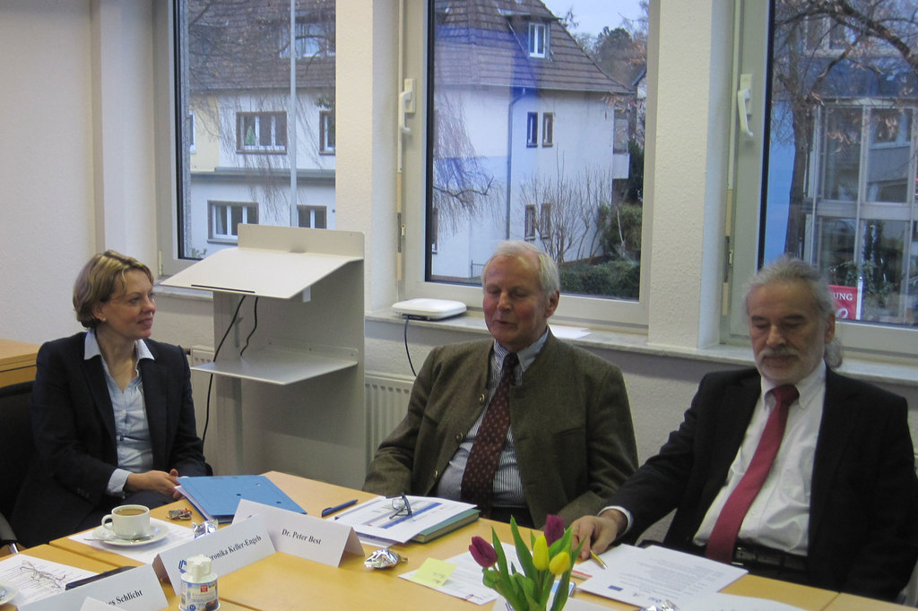 Veronika Keller-Engels, Managing Director of the  IRZ, Project Manager Dr. Peter Best and long-term expert Marius Fiedler (left to right)