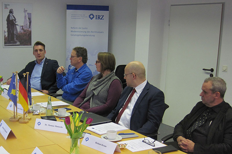Torben Adams, Stefan Thier, Kerstin Jöricke, Dr. Thomas Matusche and Helmut Krone (left to right)
