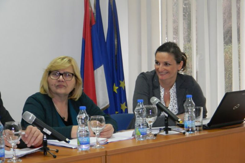 Speakers: Nevenka Mitrić, Regional Court (Okružni sud) judge and lawyer Dr. Karolina Mihaljević Schultze (on the right).