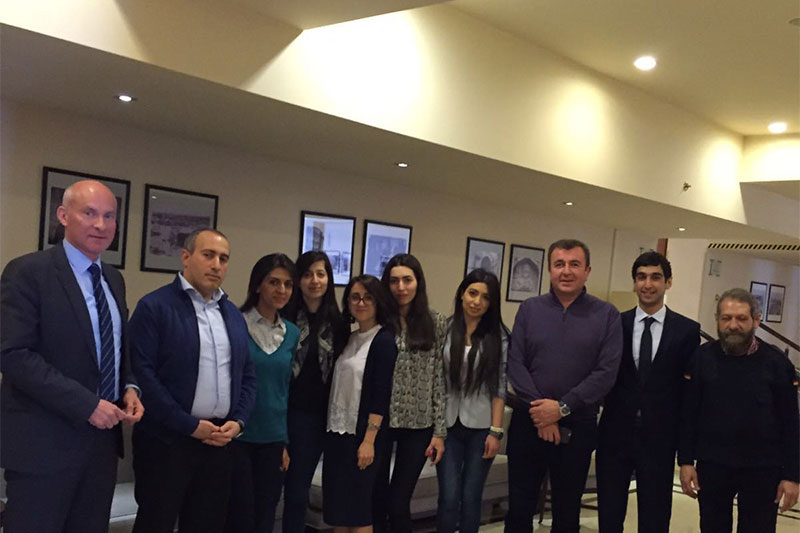 Members of the working group with representatives of the Ministry of Justice