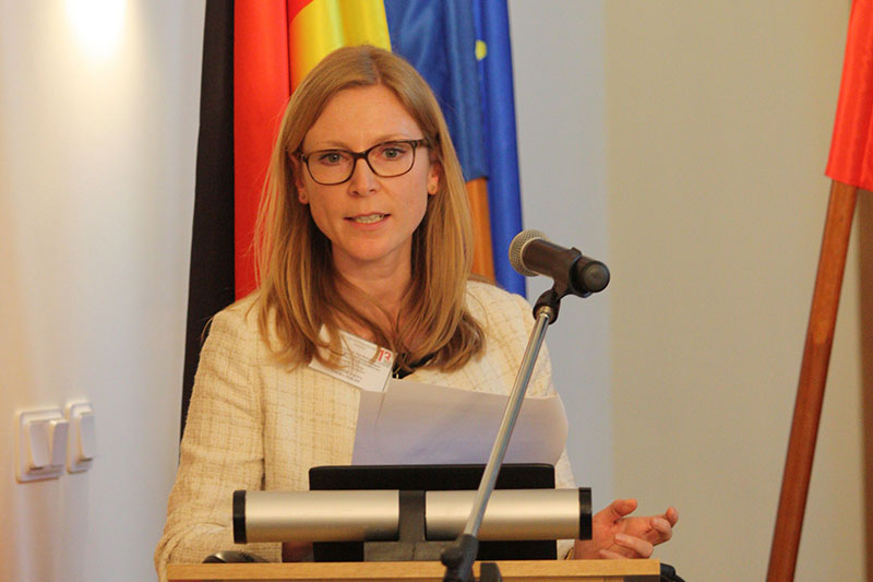 "Laura Philipp, a consultant at the German Patent and Trade Mark Office in Munich, in the department for the ""State supervision of copyright collectives"""