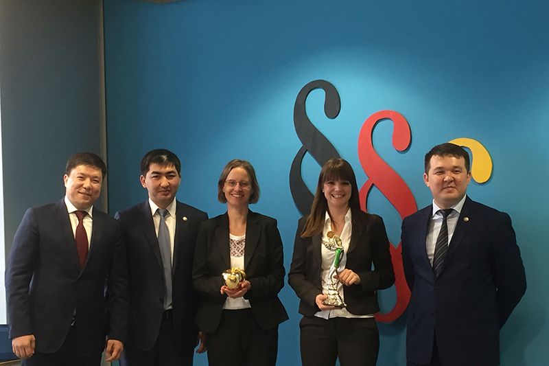 The Kazakh delegation at the German Federal Ministry of Justice and Consumer Protection (BMJV): Saken Samet, Head of the First Department of the RK Public Prosecutor