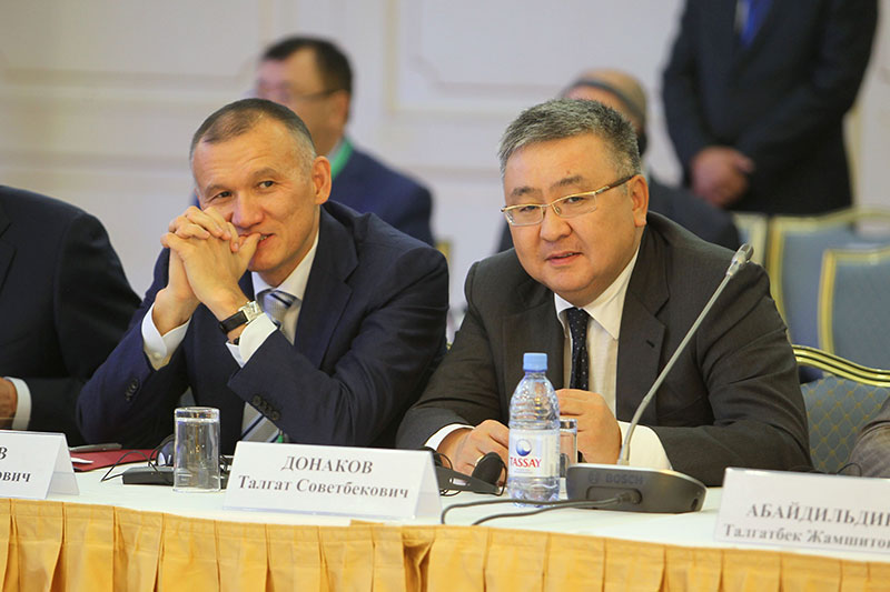Berik Imaschev (left), Minister of Justice for the Republic of Kazakhstan; Talgat Donakov, Minister of Civil Affairs for the Republic of Kazakhstan