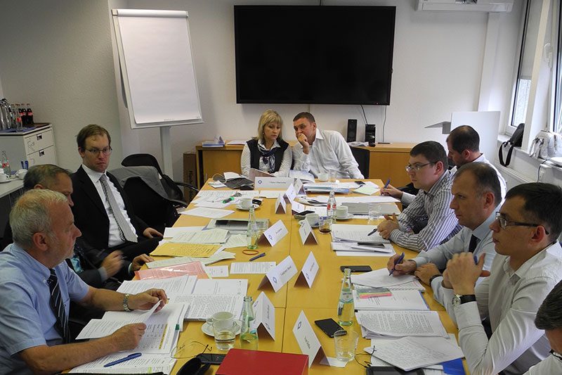 The delegation during the expert discussions
