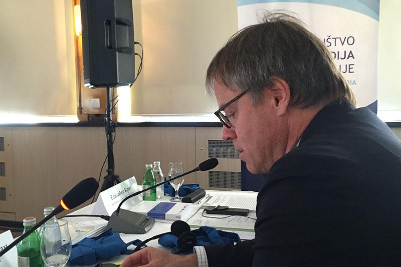 Ambassador Axel Dittmann during his welcome speech