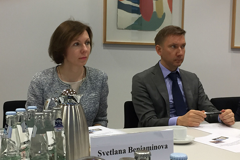 Svetlana Beniaminova, President of the Constitutional Court of the Republic of Karelia; Vadim Vonogradov, Head of the Chair for Constitutional Law and International Law at the  Russian Law Academy at the Ministry of Justice of the Russian Federation