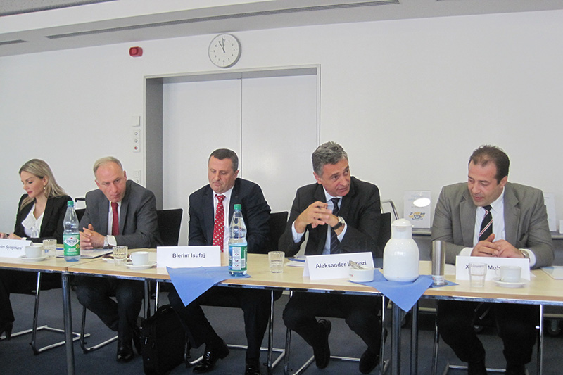 Aleksander Lumezi (2nd from right), Prosecutor General for the Republic of Kosovo