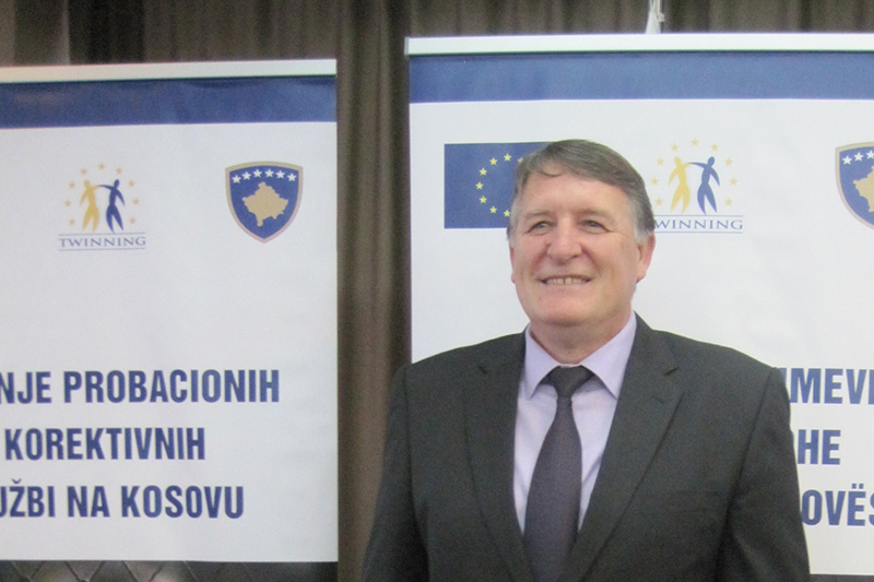 Bajram Bujupi, project leader on the Kosovar side