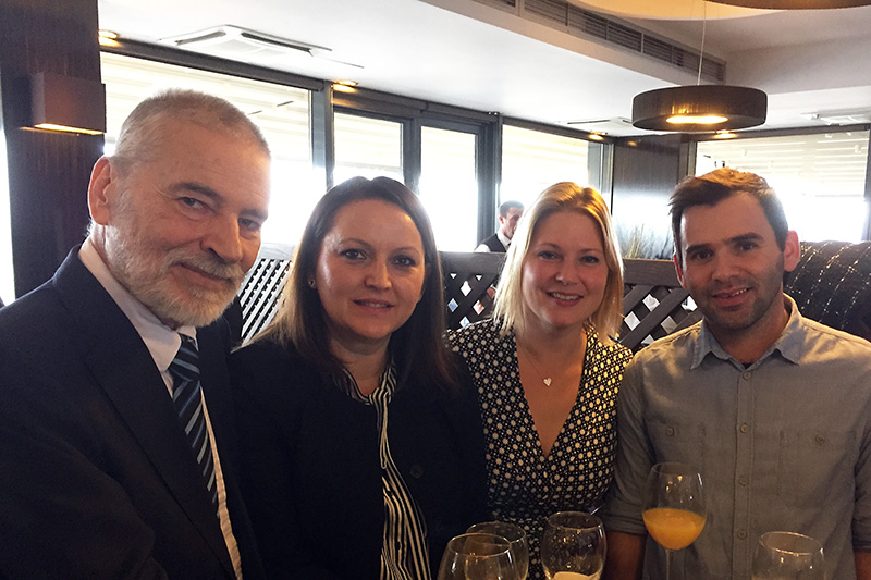 At the reception: Marius Fiedler, former RTA; Sara Seferi, RTA assistant; Elke Wendland, IRZ project manager; Kujtim Gegaj, language assistant (from left to right)