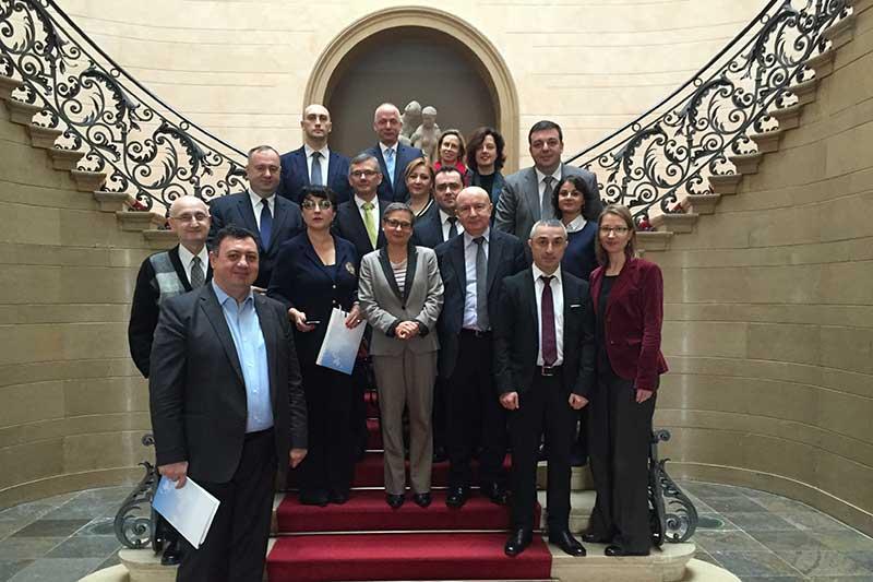 Mitglieder des Obersten Justizrats mit Bettina Limperg, Präsidentin des Bundesgerichtshofes (1. Reihe Mitte)