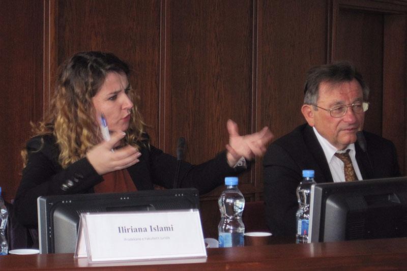Nevila Saja during her speech