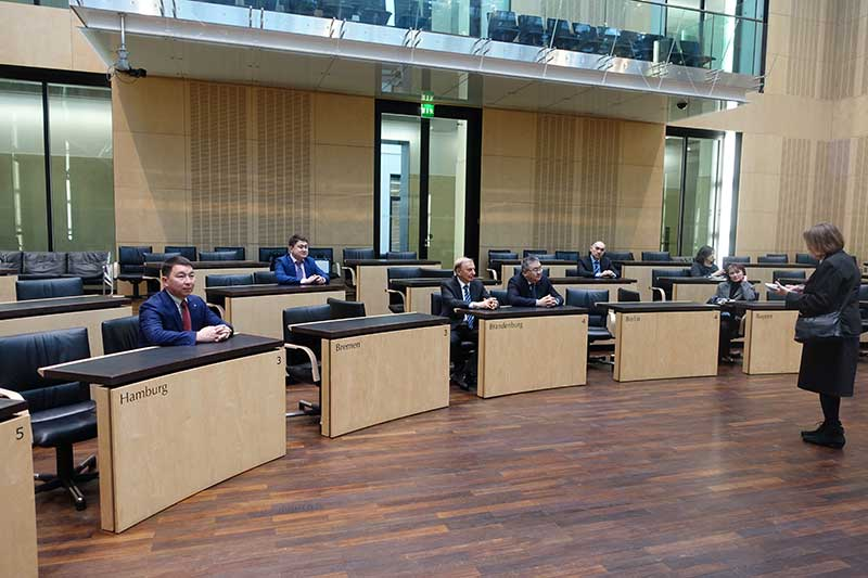 Im Plenarsaal des Bundesrates