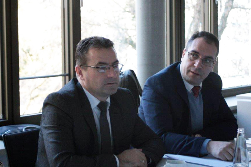 During the talks at the Berlin-Brandenburg Academy of Justice: Besim Morina (left), Managing Director of the Academy of Justice, and Lavdim Krasniqi, Director of the Prosecutional Council Secretariat
