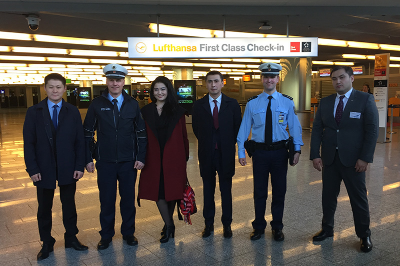 Visit to the Federal Police Headquarters at Frankfurt/Main airport