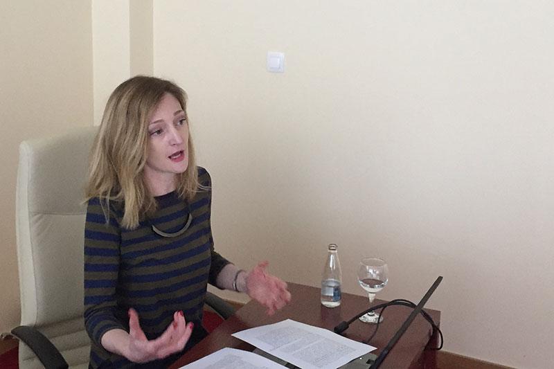 Prof. Dr. Marija Karanicik-Miric bei ihrem Vortrag