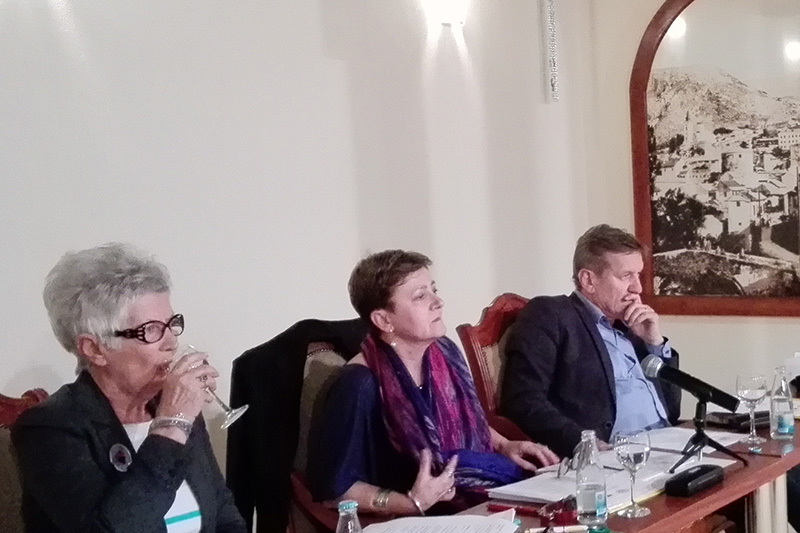 During the discussion: Prof. Dr. Suzana Bubić (centre)