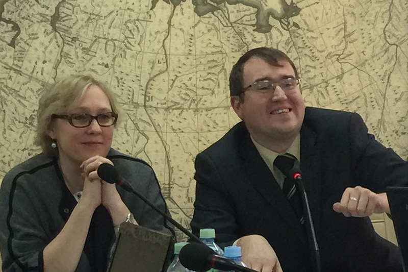 Tatiana Bovkun, IRZ Head of Section; Andrey Maximov, KGI Project Manager
