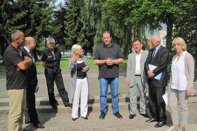 Während der Führung auf dem Gelände des Offenen Jugendvollzugs Göttingen