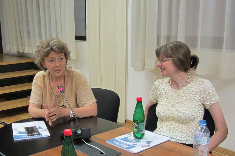 Die Präsidentin des serbischen Verfassungsgerichts, Vesna Ilić Prelić, während der Diskussion