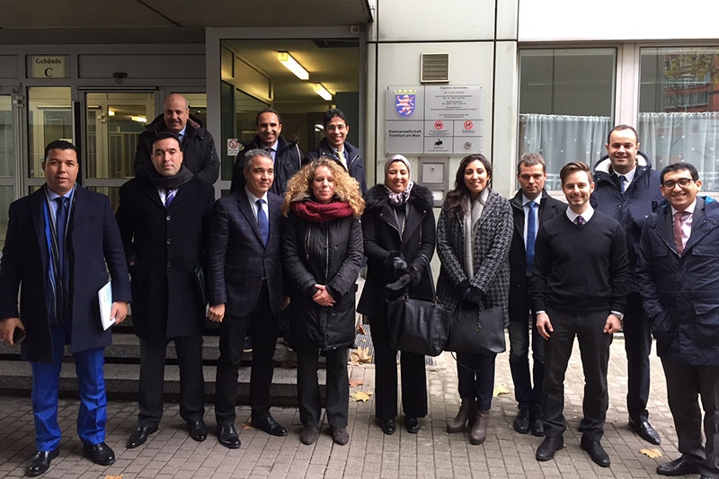 During the visit at the Public Prosecutor's Office in Frankfurt/Main with Public Prosecutors Garabett (3rd from right) and Marks (to his left)