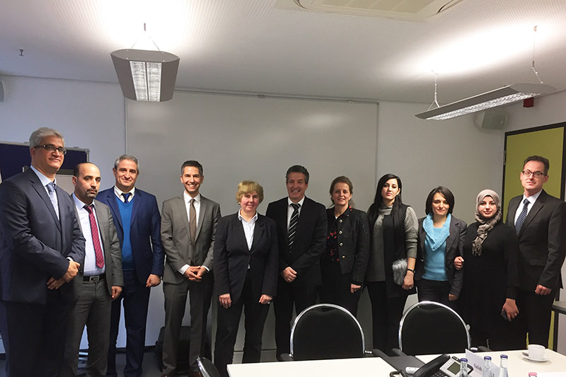 Expert discussions at the German Federal Ministry of Justice and Consumer Protection with Ministerialrätin Sabine Hilgendorf-Schmidt (5th from left), Head of Division R B 6