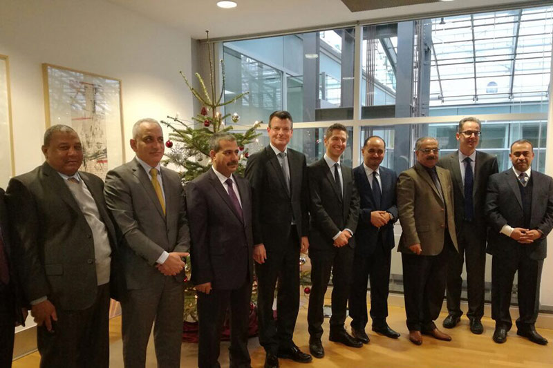 Welcome of the delegation at the German Federal Ministry of Justice and Consumer Protection by Under-Secretary Dirk Mirow, Head of Sub-Department II B Criminal Law (4th from left)