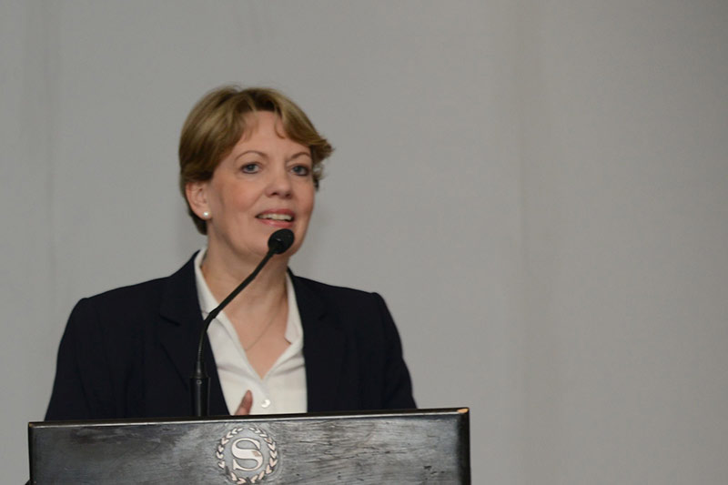 Veronika Keller-Engels, IRZ Managing Director during her welcome address on the opening of the regional office in Tunis