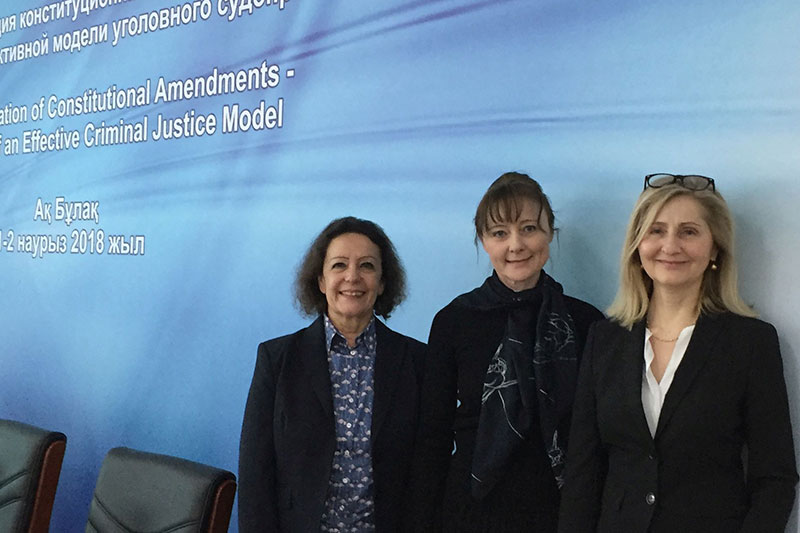 Petra Bertelsmeier, a former Senior Public Prosecutor at the Public Prosecutor General's Office in Frankfurt; Helene Philippsen, IRZ Project Manager; Ingrid Haussmann, a judge at the Higher Regional Court of Munich (from left to right)