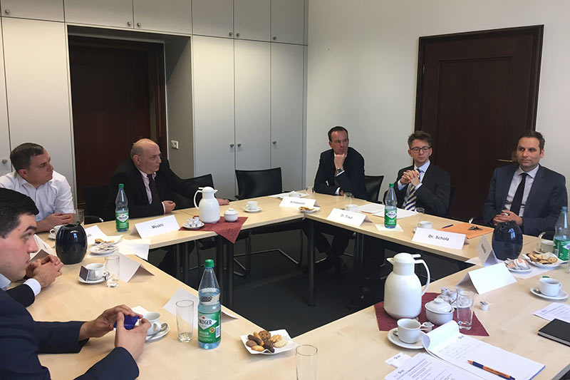 Expert discussions at the Ministry of Justice for the North Rhine-Westphalia region of Germany in Düsseldorf.