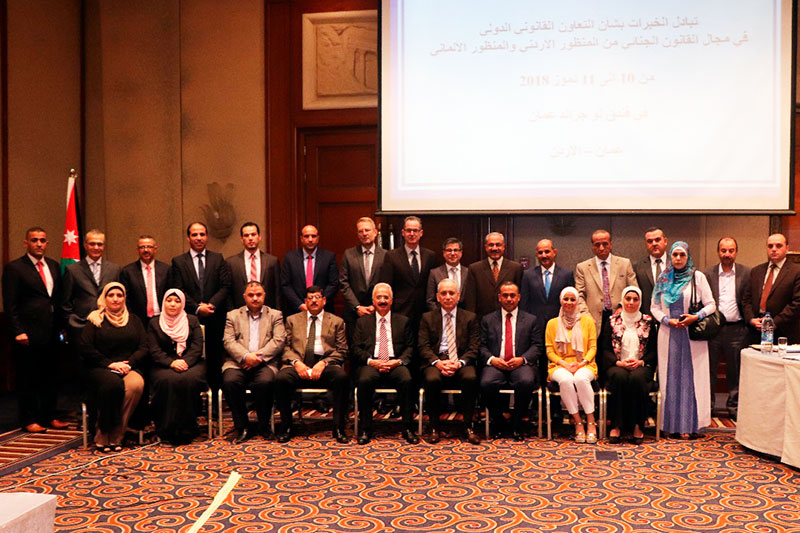 Experts and participants in the exchange of experiences in Amman