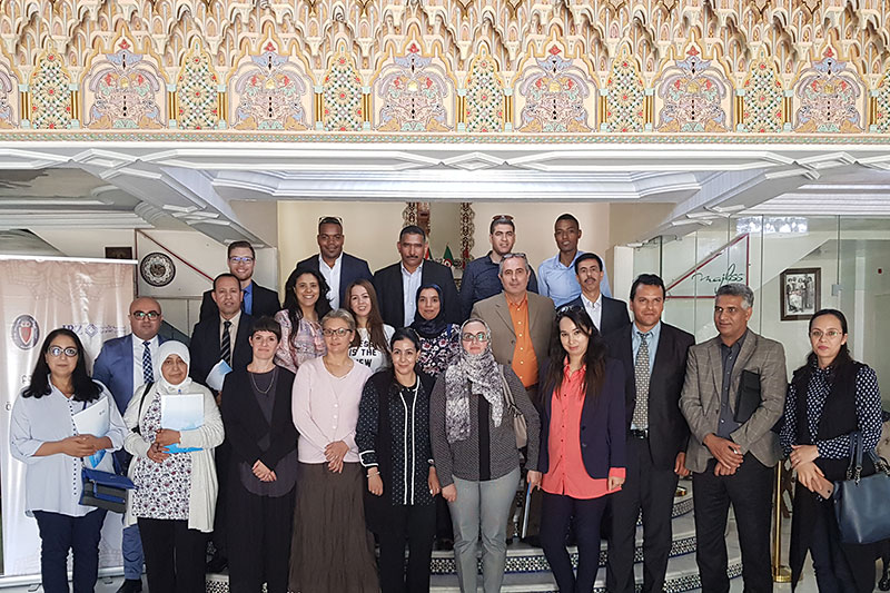 Participants and speakers at the seminar in Rabat