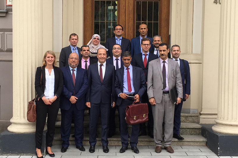 The Algerian delegation during the meeting at the Ministry of Justice for the North Rhine-Westphalia region
