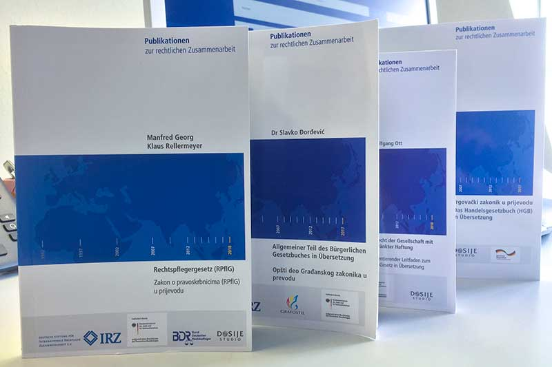 Publications of the IRZ on German law in south Slavic languages