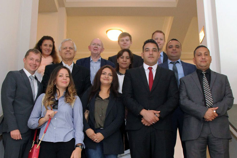 The Tunisian delegation at the Ministry of Justice for North Rhine-Westphalia