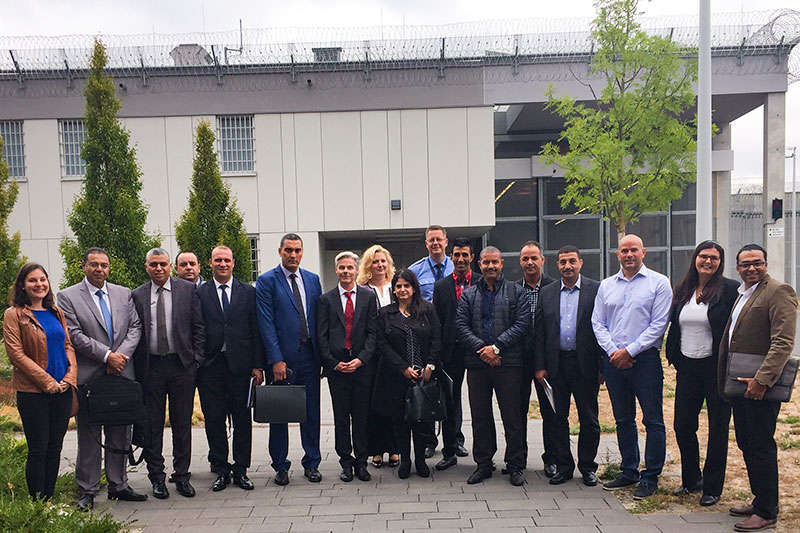The Tunisian delegation on a visit to the JVA Heidering prison