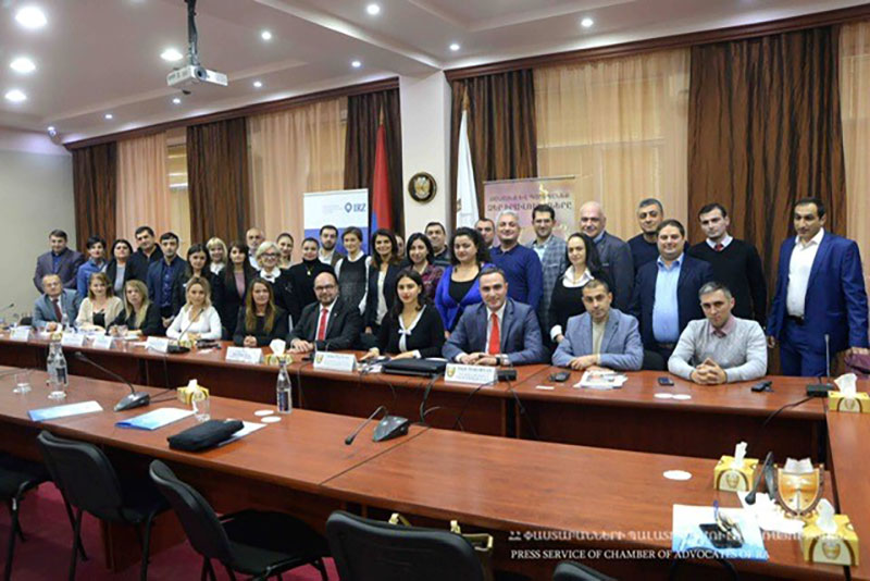 Participants in the workshop with the Armenian Bar Association