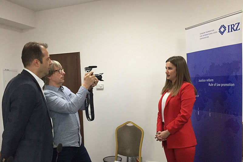 Practical exercises in media training for press officers in Kosovo
