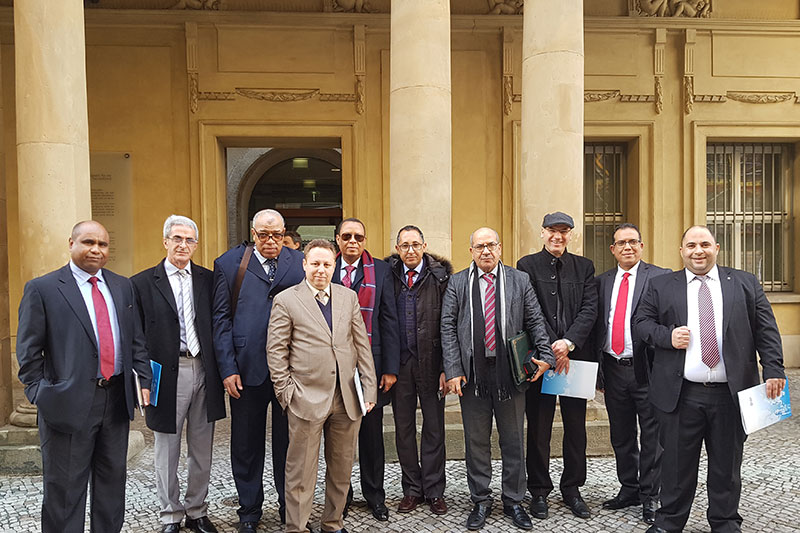 Participants in the study visit in front of the German Federal Ministry of Justice and Consumer Protection