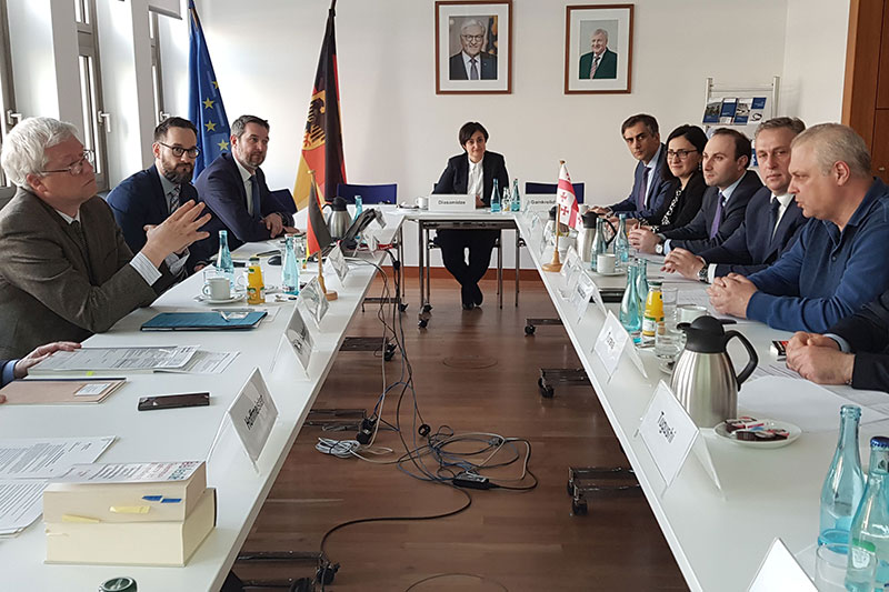The Georgian delegation visiting the German Federal Ministry of the Interior, Building and Community in Berlin