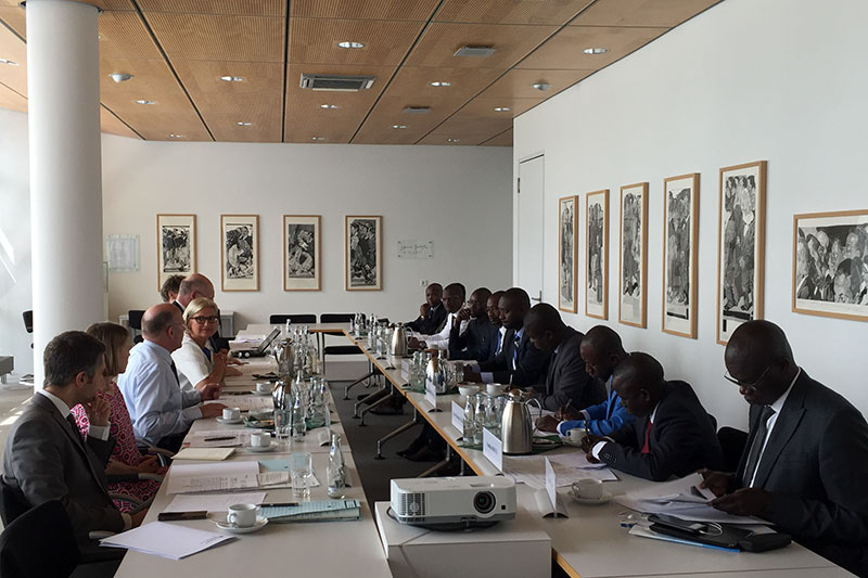 The Senegalese delegation attending talks at the German Federal Ministry of Justice and Consumer Protection
