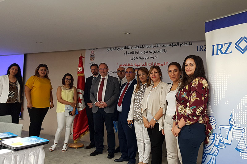 Participants in the soft skills training session in Tunis