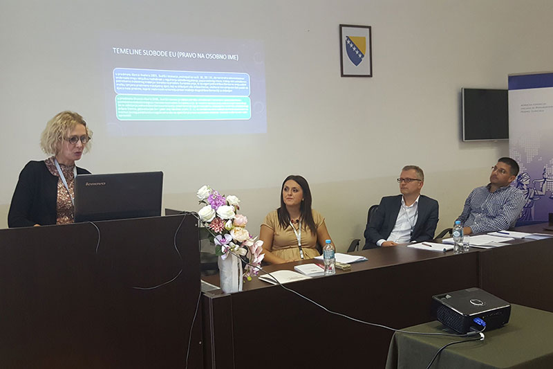 Prof. Dr. Anita Duraković, Professor in Family Law at the Faculty of Law at Džemal Bijedić University in Mostar, during her lecture