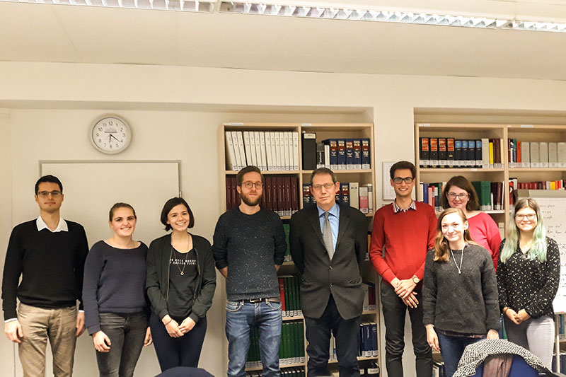 The Konrad Adenauer Foundation scholarship students during their visit with Dr. Stefan Pürner (centre)