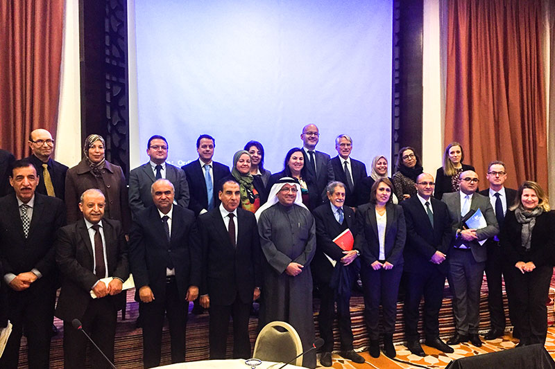 Participants and speakers at the conference in Tunis